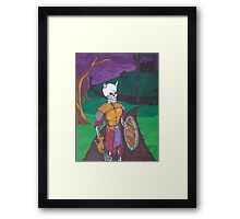 Skeletal Warrior Framed Print