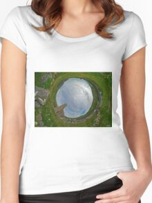 Glencolmcille Church - Sky In Women's Fitted Scoop T-Shirt