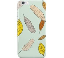 Feathers and Leaves 3 iPhone Case/Skin