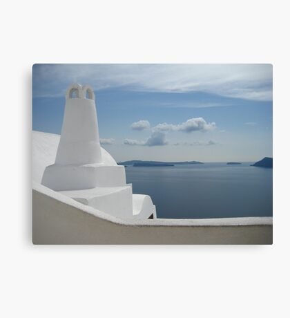 Santorini, where the line between art and reality blurs Canvas Print