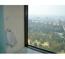 View from Sofitel men's toilet, Melbourne Photographic Print