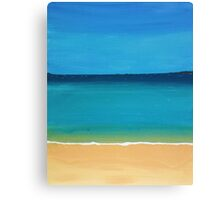 sky, sea and sand Canvas Print