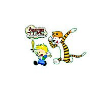 Adventure Time Calvin and Hobbes Photographic Print