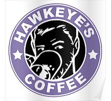 Hawkeye's Coffee Poster