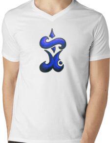 Eternal / مؤبد (dark blue) Mens V-Neck T-Shirt