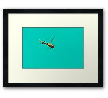 Yellow helicopter Framed Print