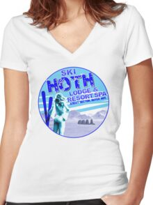 Hoth Lodge Women's Fitted V-Neck T-Shirt