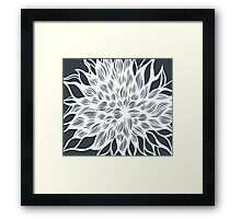 flower (gray) Framed Print