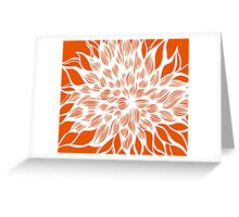 flower (orange) Greeting Card