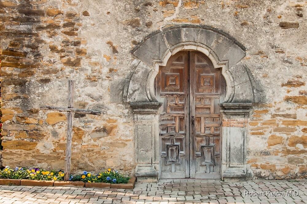 Entrance to San Juan Mission Church by Robert Kelch, M.D.