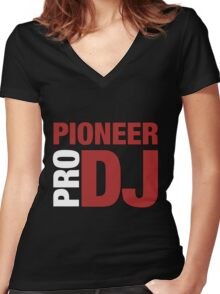 Pioneer DjPro Women's Fitted V-Neck T-Shirt