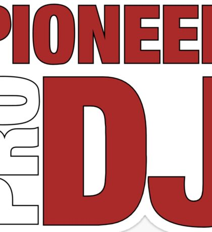Pioneer DjPro Sticker