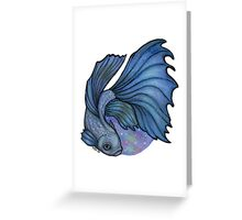 Spacey Betta (Version 1) Greeting Card