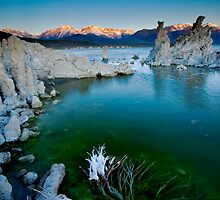 Mono Lake Crack of Dawn by photosbyflood