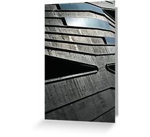 Abstract Roof, Contemporary Architecture, De Young Museum Greeting Card