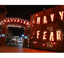 Navy Fear Photographic Print