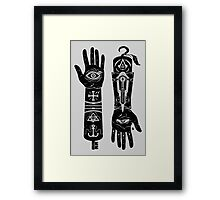 Hands of Fate (without Abstergo logo) Framed Print