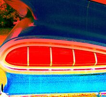 Blue Chevy Impala Tail Light by rtographsbyrolf