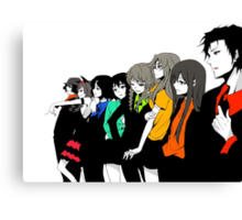 Steins gate characters anime shirt Canvas Print