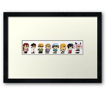 Steins gate anime characters Framed Print