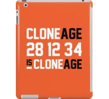 Cloneage Is Cloneage (Orange Ver.) iPad Case/Skin