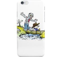 Calvin and Hobbes Walk with Zombie iPhone Case/Skin