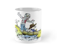 Calvin and Hobbes Walk with Zombie Mug