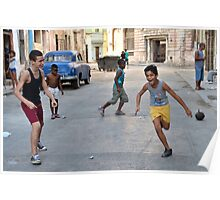 Street play in Havana Poster