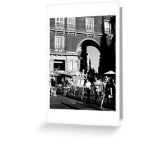 """City Life - """"Day End Fuss"""" Greeting Card"""