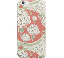 Doodle Flowers and Circles Pattern iPhone Case/Skin