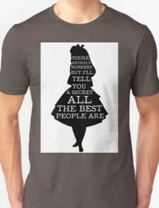 Alice in Wonderland Have I Gone Bonkers Quote Unisex T-Shirt