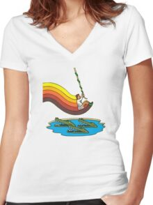 Swinger Women's Fitted V-Neck T-Shirt