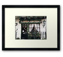 221B Baker Street, Good Evening Mr Holmes Framed Print