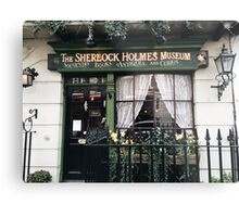 221B Baker Street, Good Evening Mr Holmes Metal Print