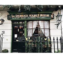 221B Baker Street, Good Evening Mr Holmes Photographic Print