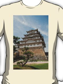 Himeji Castle With Tree, Japan T-Shirt