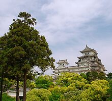 Castle at Hiimeji With Trees, Kansai, Japan by jojobob