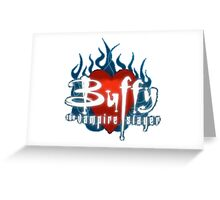Buffy Flaming Heart Greeting Card