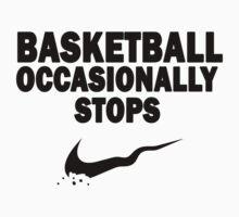 Basketball Occasionally Stops - Nike Parody (Black) Baby Tee