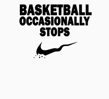 Basketball Occasionally Stops - Nike Parody (Black) Unisex T-Shirt