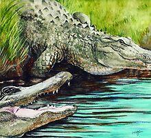 Aligators by morgansartworld