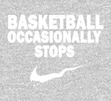 Basketball Occasionally Stops - Nike Parody (White) One Piece - Short Sleeve