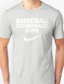 Basketball Occasionally Stops - Nike Parody (White) T-Shirt
