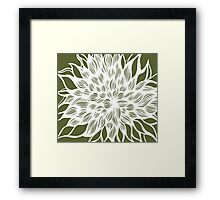 flower (olive) Framed Print