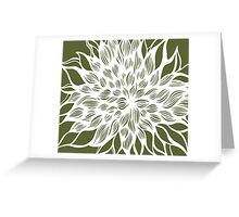 flower (olive) Greeting Card