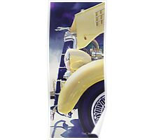 """""""34 Ford"""" Vintage Car Watercolor Poster"""