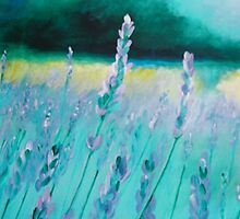 lavender painting by schiabor