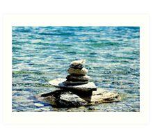 Zen in the water .. Art Print