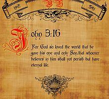 Bible Verse John 3:16 by cuda12