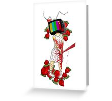 Alice + Strawberries Greeting Card